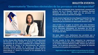 """Conversatorio """"Derechos electorales de las personas con discapacidad"""""""